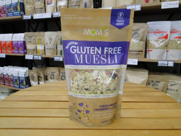 Mom's Natural Foods Muesli Yaban Mersini, Cranberry, Çilek 300 gr 1